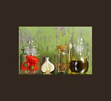 A still life of jars with peppers. Unisex T-Shirt