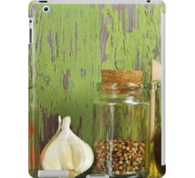 A still life of jars with peppers. iPad Case/Skin
