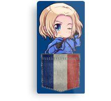 France Pocket Chibi Metal Print