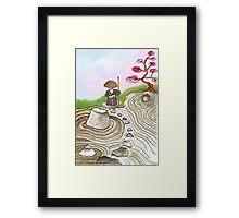 A Japanese Zen Garden Framed Print