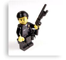 LAPD Patrol Officer - Custom LEGO Minifigure Canvas Print
