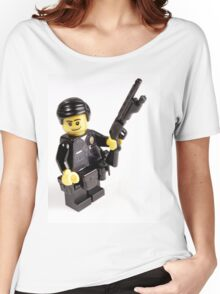 LAPD Patrol Officer - Custom LEGO Minifigure Women's Relaxed Fit T-Shirt