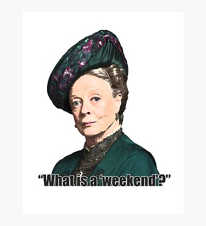 The Dowager Countess Photographic Print