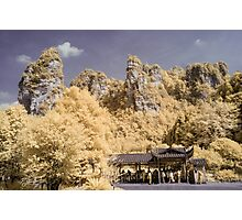 Zhangjiajie Bus Stop in Infra Red Photographic Print