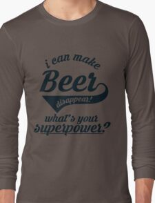 I can make BEER disappear! - version 2 - dark blue / navy Long Sleeve T-Shirt