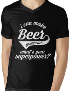 I can make BEER disappear! - version 3 - white Mens V-Neck T-Shirt