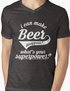 I can make BEER disappear! - version 3 - white Mens V-Neck T-Shirt
