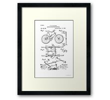 Bicycle Coupler Patent Circa 1896 Framed Print