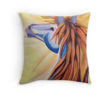A Horse named Wildfire Throw Pillow