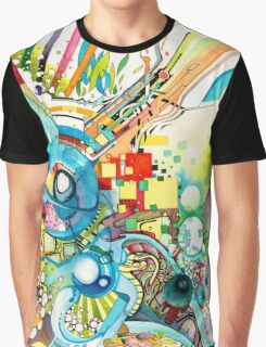 Unlimited Curiosity - Watercolor and Felt Pen Graphic T-Shirt