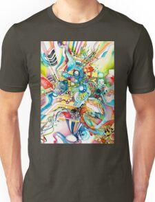Unlimited Curiosity - Watercolor and Felt Pen Unisex T-Shirt