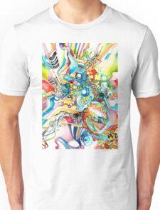 Unlimited Curiosity - Watercolor and Felt Pen T-Shirt