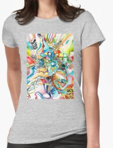 Unlimited Curiosity - Watercolor and Felt Pen Womens Fitted T-Shirt