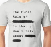 """The First Rule"" - Sans Background Unisex T-Shirt"