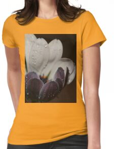 A white daisy. Womens Fitted T-Shirt