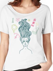 Mermaid with long curly hair Women's Relaxed Fit T-Shirt