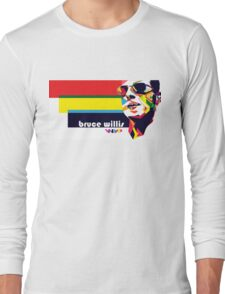 bruce willis wpap Long Sleeve T-Shirt