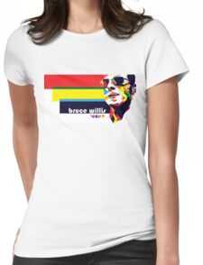 bruce willis wpap Womens Fitted T-Shirt