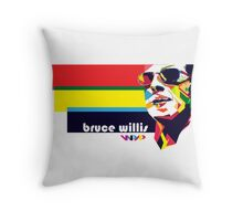 bruce willis wpap Throw Pillow