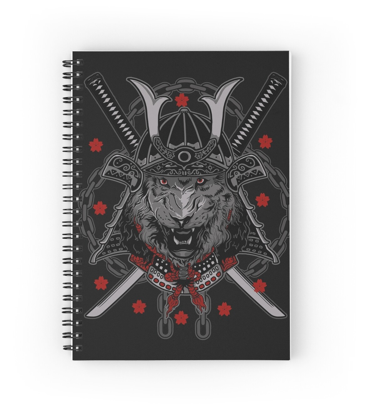 "Manga Samurai Spiral Notebooks By Jiggymiggy: ""Tiger Samurai Warrior"" Spiral Notebooks By Methlop39"
