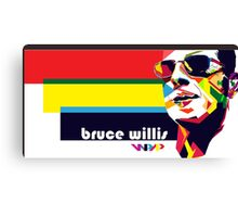 bruce willis wpap Canvas Print