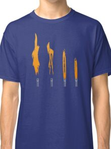 Flames of Science (Bunsen Burner Set) - Orange Classic T-Shirt