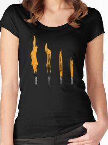 Flames of Science (Bunsen Burner Set) - Orange Women's Fitted Scoop T-Shirt
