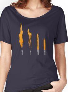 Flames of Science (Bunsen Burner Set) - Orange Women's Relaxed Fit T-Shirt