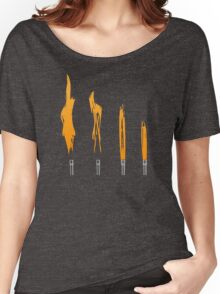 Flames of Science (Bunsen Burner Set) - Orange Women's Relaxed Fit T-Shirt