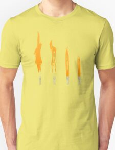 Flames of Science (Bunsen Burner Set) - Orange T-Shirt