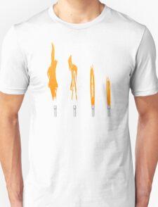 Flames of Science (Bunsen Burner Set) - Orange Unisex T-Shirt