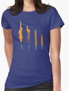 Flames of Science (Bunsen Burner Set) - Orange Womens Fitted T-Shirt