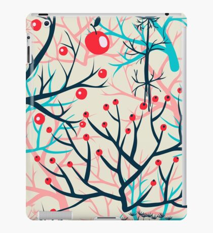 apples berries branch seamless ornament iPad Case/Skin