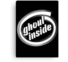 GHOUL INSIDE - solid white Canvas Print