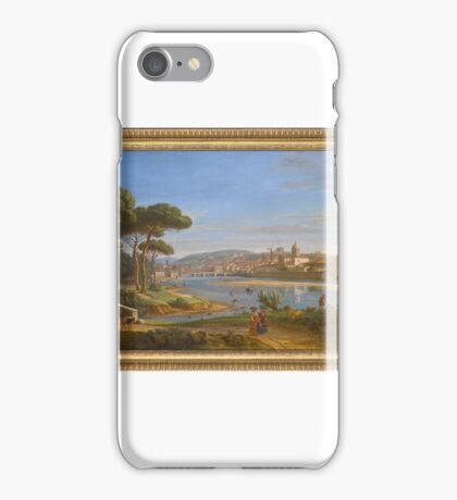 Gaspar van Wittel, called Vanvitelli FLORENCE, A VIEW OF THE CITY FROM THE RIGHT BANK OF THE RIVER ARNO LOOKING TOWARDS THE PONTE ALLA CARRAIA iPhone Case/Skin