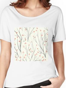 berries branch seamless ornament Women's Relaxed Fit T-Shirt