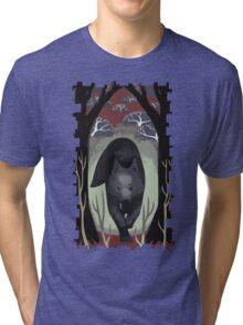 Wolf Tarot Card Tri-blend T-Shirt