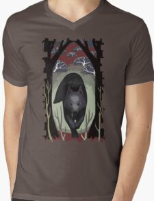 Wolf Tarot Card Mens V-Neck T-Shirt