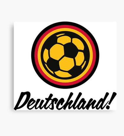 Football coat of arms of Germany Canvas Print