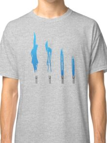 Flames of Science (Bunsen Burner Set) - Blue Classic T-Shirt