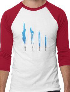 Flames of Science (Bunsen Burner Set) - Blue Men's Baseball ¾ T-Shirt