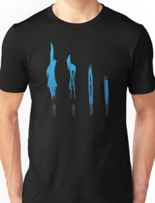 Flames of Science (Bunsen Burner Set) - Blue Unisex T-Shirt