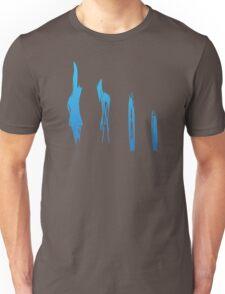 Flames of Science (Bunsen Burner Set) - Blue Unisex T-Shirt