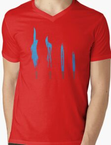 Flames of Science (Bunsen Burner Set) - Blue Mens V-Neck T-Shirt