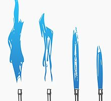 Flames of Science (Bunsen Burner Set) - Blue by davidcaddy