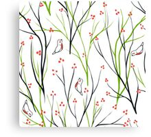 berries branch seamless ornament Canvas Print