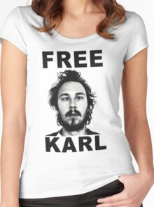 Free Karl Women's Fitted Scoop T-Shirt