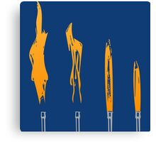 Flames of Science (Bunsen Burner Set) - Orange Canvas Print