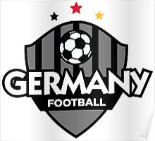 Football coat of arms of Germany Poster