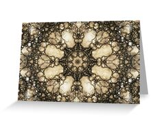 Lacy Mosaic - Fractal Art Greeting Card